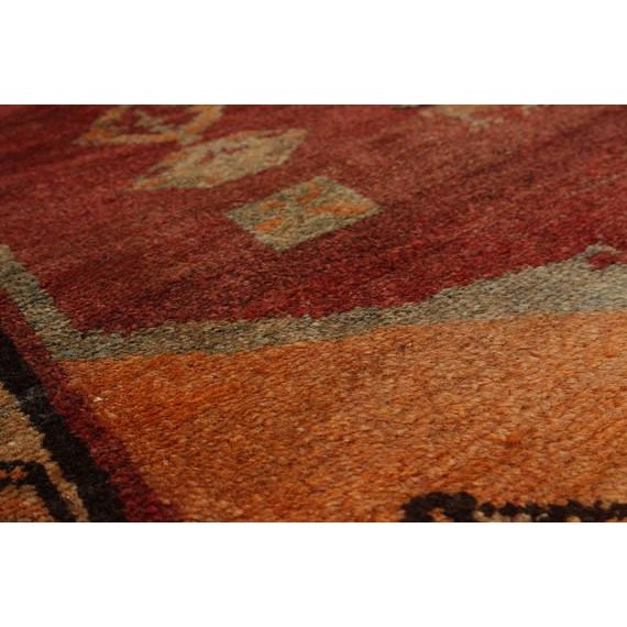 "Vintage Persian Tribal Abstract Design Runner Rug, 1970s - 42"" x 108"" - Image 2 of 3"