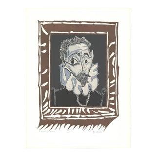 """PABLO PICASSO L'Homme a la Fraise 27"""" x 20"""" Lithograph 1964 Cubism - Set of 3 For Sale"""