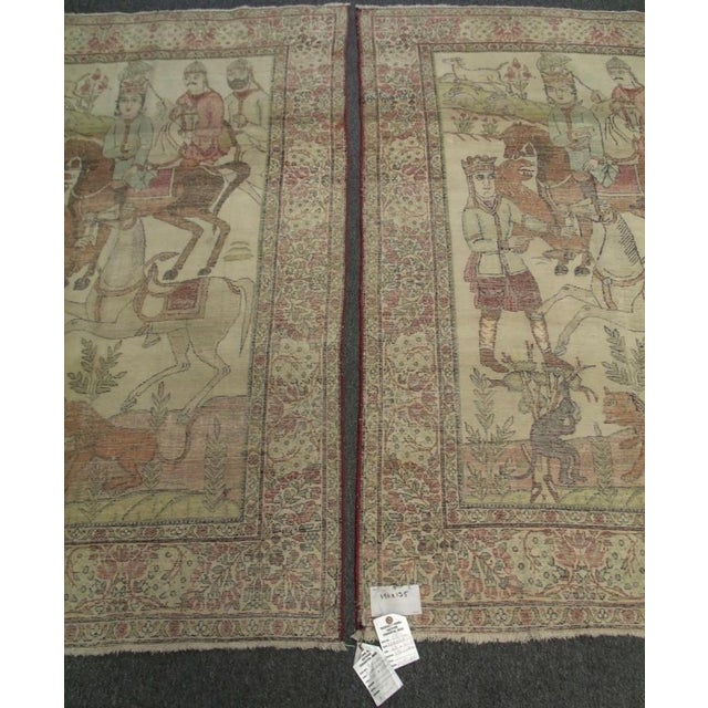 Late 19th Century Antique Handmade Pictorial Rugs - a Pair For Sale - Image 10 of 13
