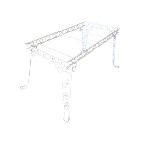 """Custom 4 Person Outdoor """"Circle 8"""" Iron Table W/ Glass Top For Sale"""