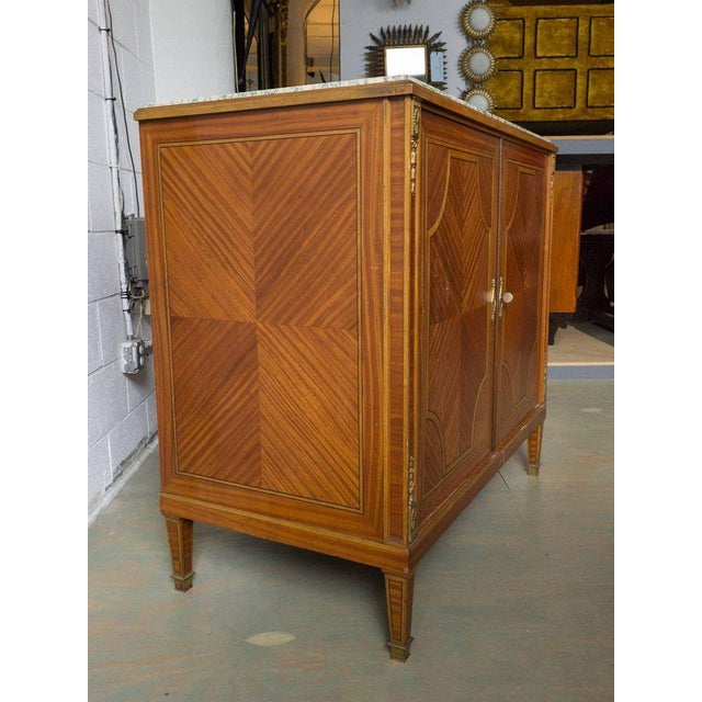 Green French Cabinet With Marble Top For Sale - Image 8 of 12