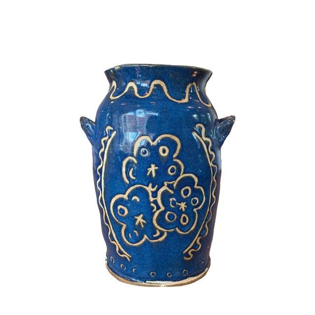 Kate Lewis Flowers Divine Original Pottery Vase For Sale