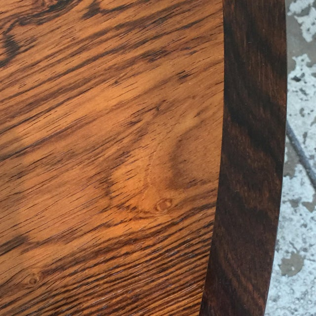 Impeccable Hans C. Andersen Danish Rosewood Round Coffee Table For Sale - Image 4 of 8