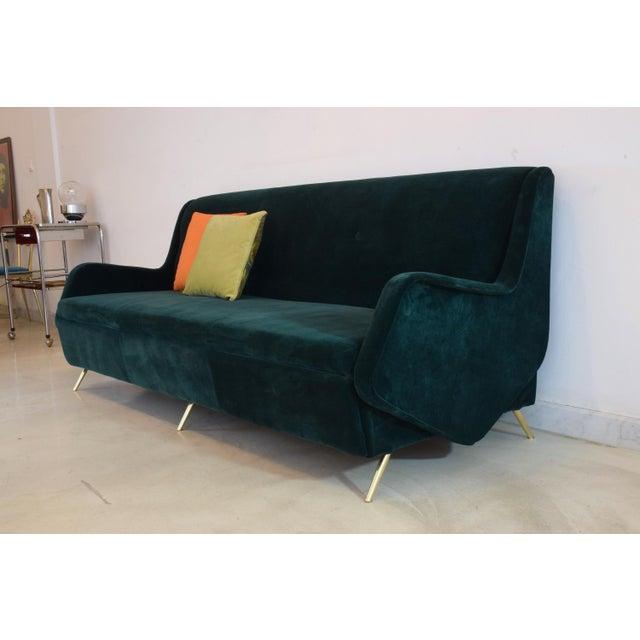 Italian Vintage Midcentury Sofa, 1950s For Sale - Image 4 of 12