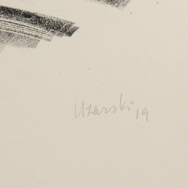 Adolf Uzarski Charcoal Drawing Lithograph For Sale - Image 4 of 11