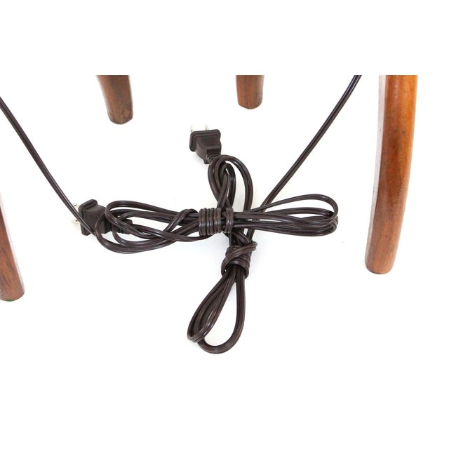 Danish Modern Walnut Tripod Lamps - A Pair - Image 10 of 10