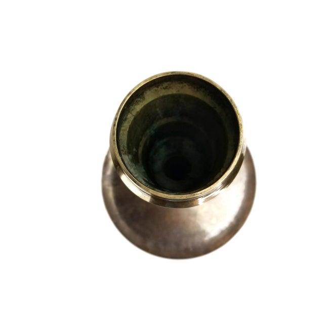 Metal Vintage Middle Eastern Brass Floor Candle Holder For Sale - Image 7 of 11