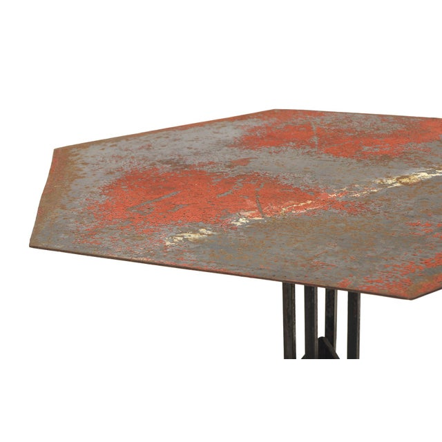 Frank Lloyd Wright Beautifully Distressed Frank Lloyd Wright & Warren McArthur Biltmore Cafe Table For Sale - Image 4 of 8
