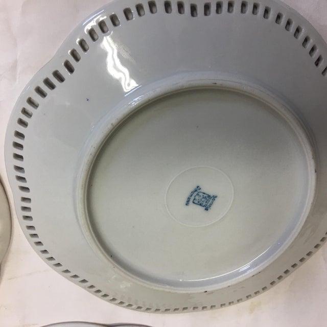 Bavaria Schumann Porcelain Floral Plates - Set of 3 For Sale - Image 9 of 9