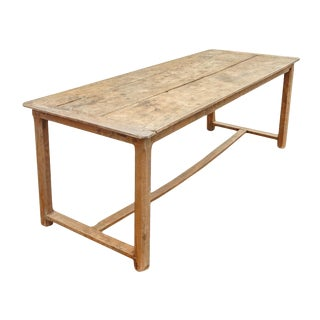 Antique Table With Stretcher For Sale