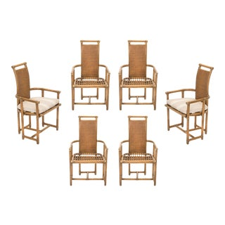 McGuire Bamboo Dining Chairs - Set of 6 For Sale