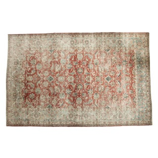 "Vintage Distressed Kashan Carpet - 8'4"" x 12'10"" For Sale"