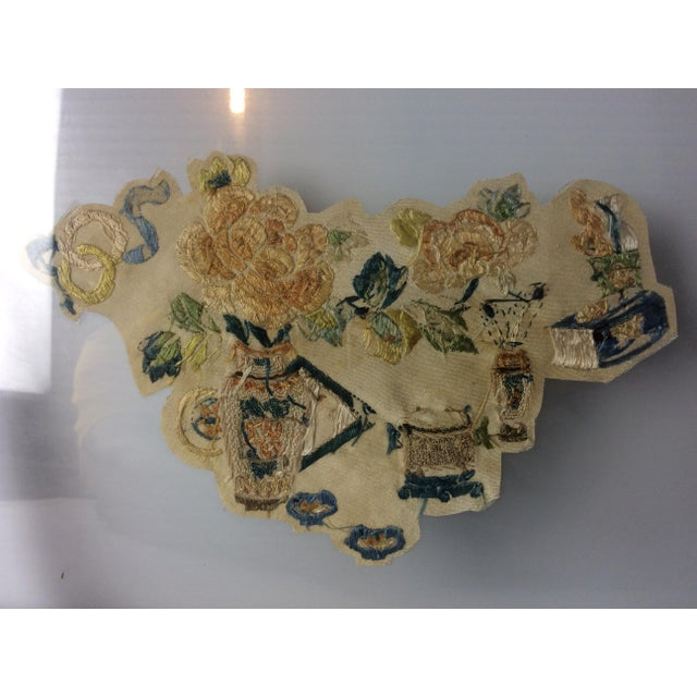 19th Century Chinese Framed Embroidery - A Pair For Sale - Image 9 of 11