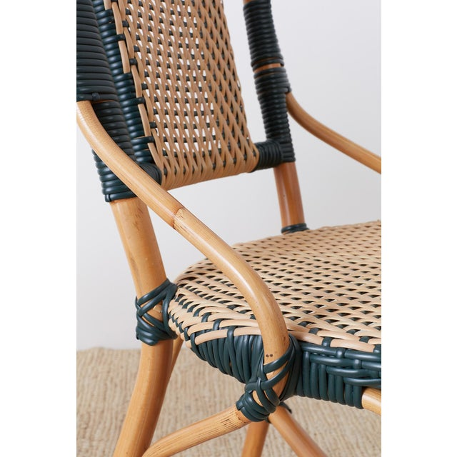 Pair of Palecek Bamboo Rattan Bistro Cafe Chairs For Sale - Image 11 of 13