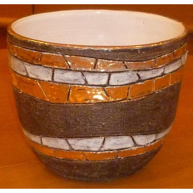 1960s Large Modernist Aldo Londi Pottery Bowl For Sale - Image 5 of 8