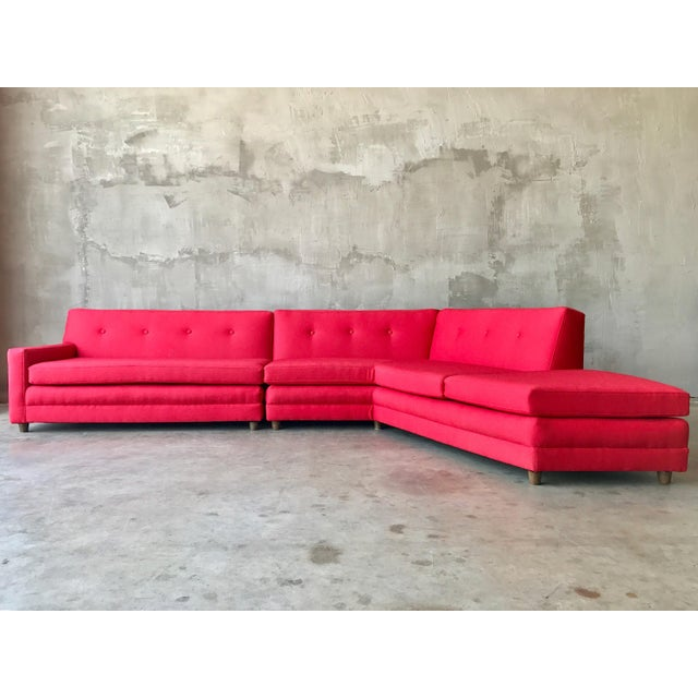 Harvey Probber Style Angular Sectional - Image 2 of 6