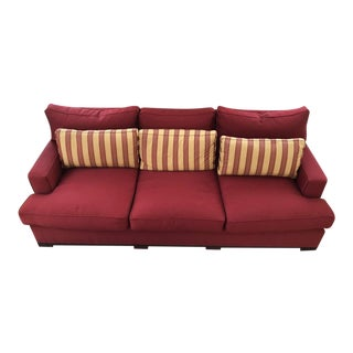 Acquisitions by Henredon Red Sofa & Pillows