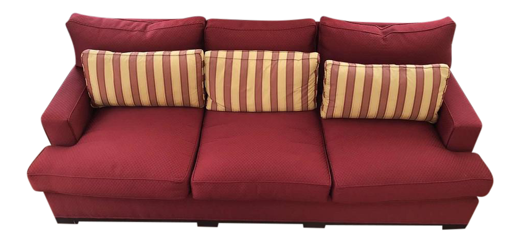 Acquisitions By Henredon Red Sofa U0026 Pillows