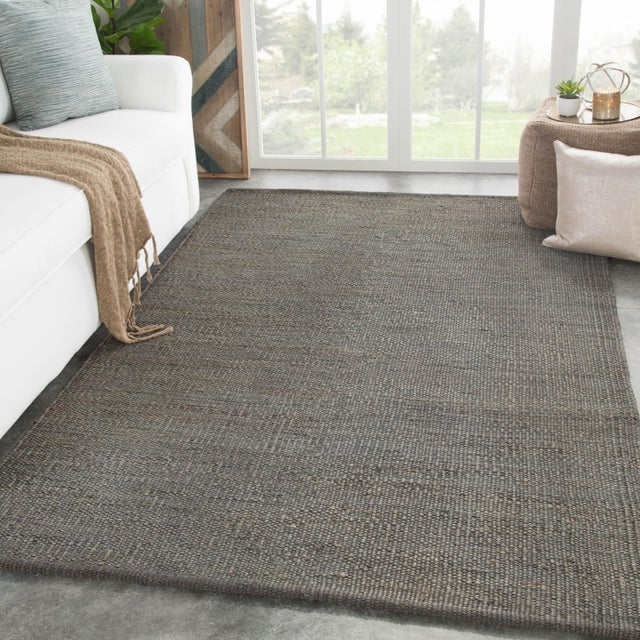 2010s Jaipur Living Anthro Natural Dark Gray Area Rug - 8′ × 10′ For Sale - Image 5 of 6