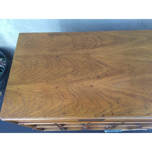 Vintage Herringbone Thomasville Credenza/Dresser For Sale - Image 5 of 11
