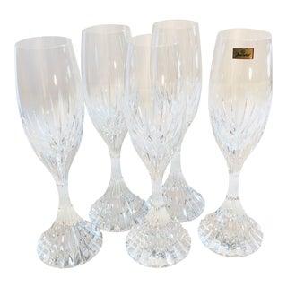 Baccarat Massena Flute Champagne Glasses - Set of 5