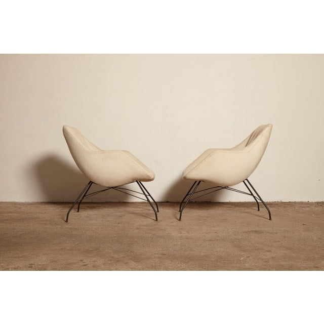 Metal 1950s Vintage Forma Brazil Carlo Hauner and Martin Eisler Shell 'Concha' Lounge Chairs - a Pair For Sale - Image 7 of 13