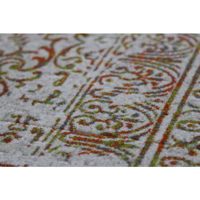 "Distressed Turkish Green Orange Rug - 8' x 10'7"" - Image 2 of 4"