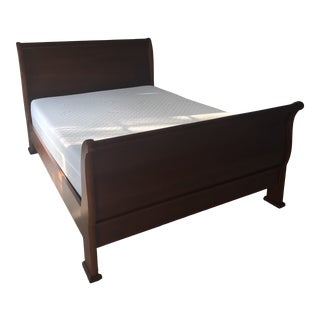 Transitional Stanley Furniture Queen Sleigh Bedframe For Sale