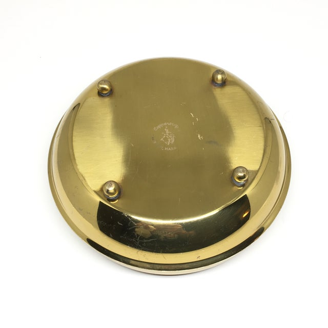 Vintage Brass Footed Bowl/Planter For Sale In New York - Image 6 of 8