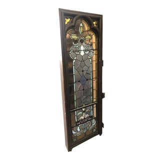 1920s Vintage Stained Glass Church Window For Sale