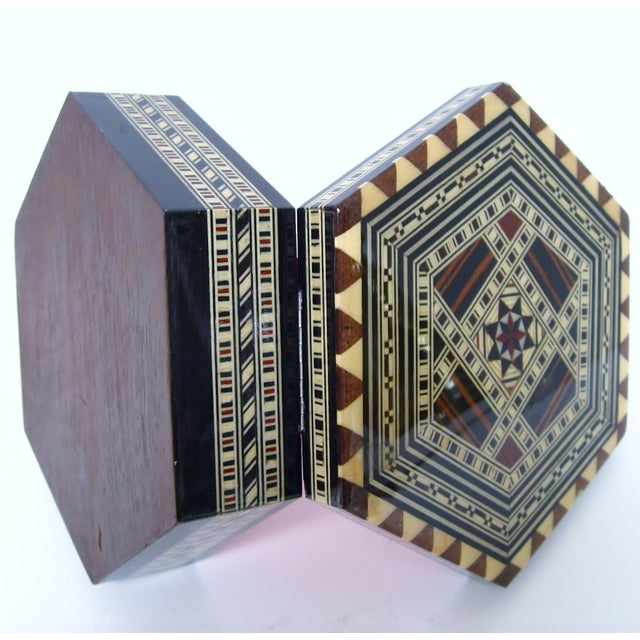 Boho Chic Inlay Wood Box - Image 8 of 8