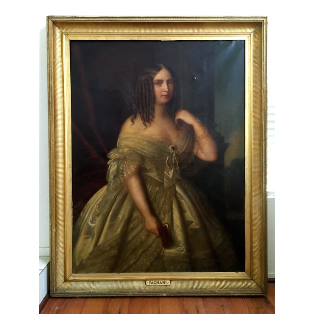 Antique Giuseppe Fagnani Oil Portrait Painting - Image 2 of 8