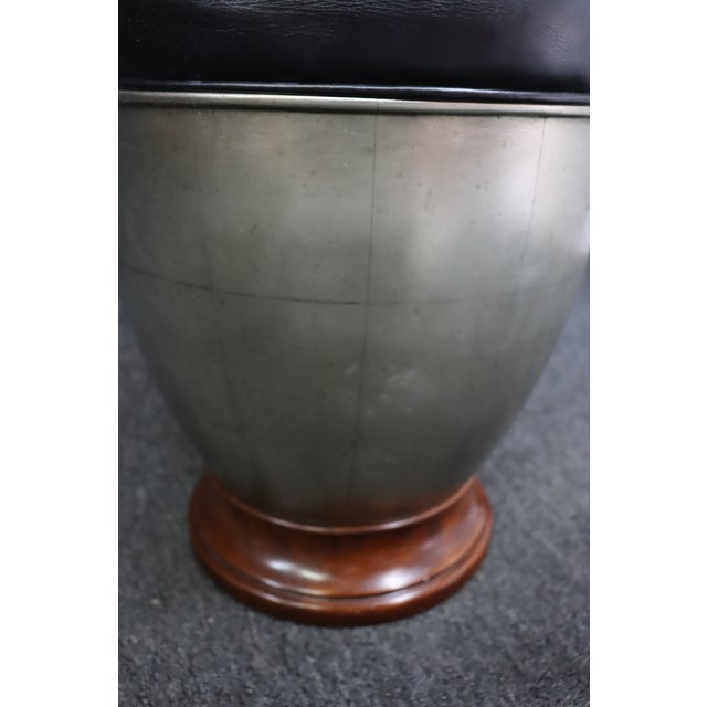 Hollywood Regency Silver Gilt & Cherry Vanity Stool For Sale - Image 4 of 6