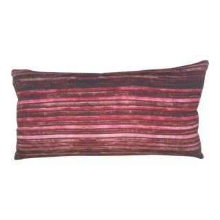 Hand-Dyed Striped Linen Pillow Cover