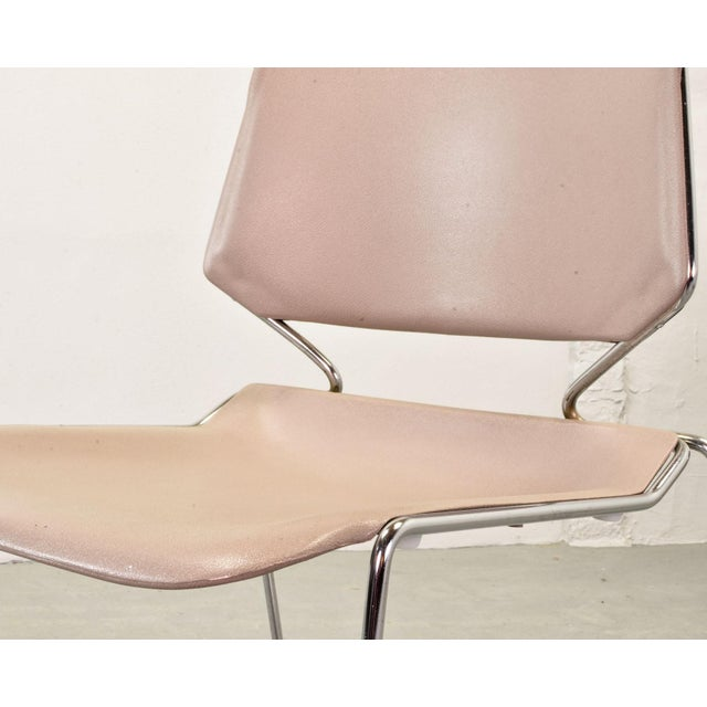 Set of Seven Mid-Century Muted Pink Stackable Dining Chairs by Thomas Tolleson for Matrix Krueger, Usa, 1970s For Sale - Image 9 of 13