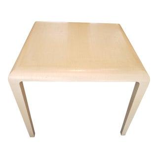 Modern Harrison Van Horn Raffia Game Table For Sale