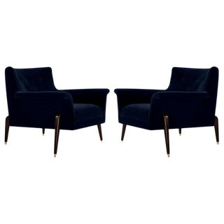 Ico Parisi Style Spider Leg Lounge Chairs, Italy, 1960s For Sale