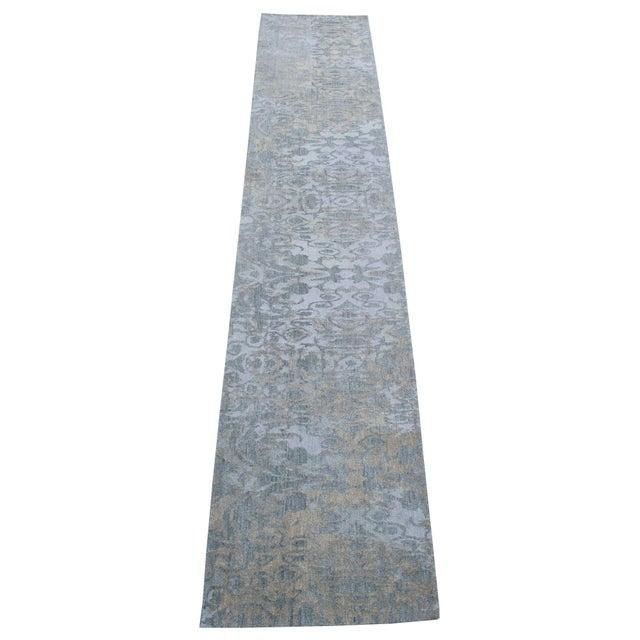 Modern Wool Runner Rug - 2' X 10' For Sale - Image 4 of 4