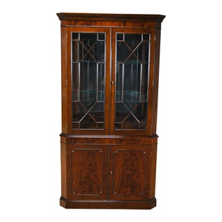 Large Mahogany Corner Closet For Sale