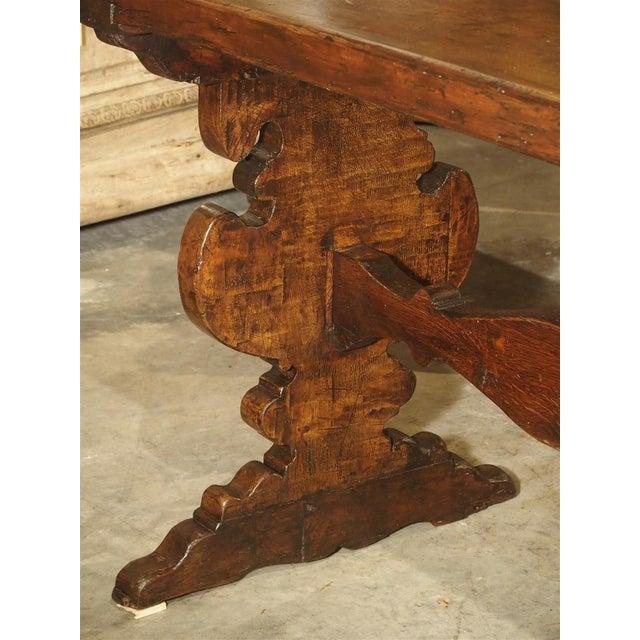 17th Century Italian Walnut Wood Table For Sale - Image 4 of 13