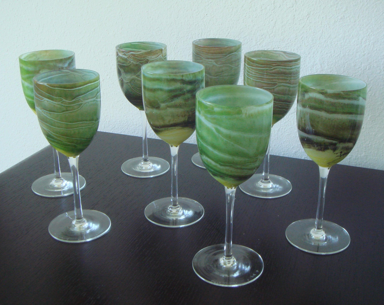 Superior Steven Maslach Handblown Wine Glasses   Set Of 8   Image 10 Of 10