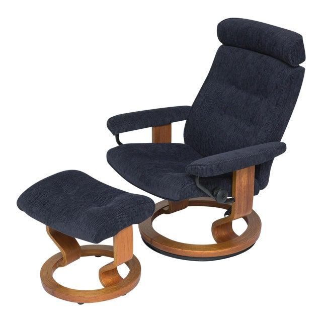 Vintage Teak Ekornes Chair and Ottoman For Sale