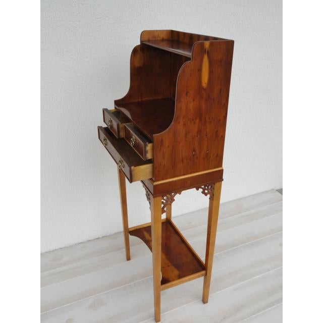 Asian Baker Furniture Small Entryway Console Table Cabinet For Sale - Image 3 of 13