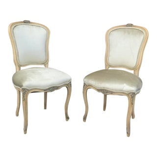 Antique French Louis XV Style Side Chairs - a Pair For Sale