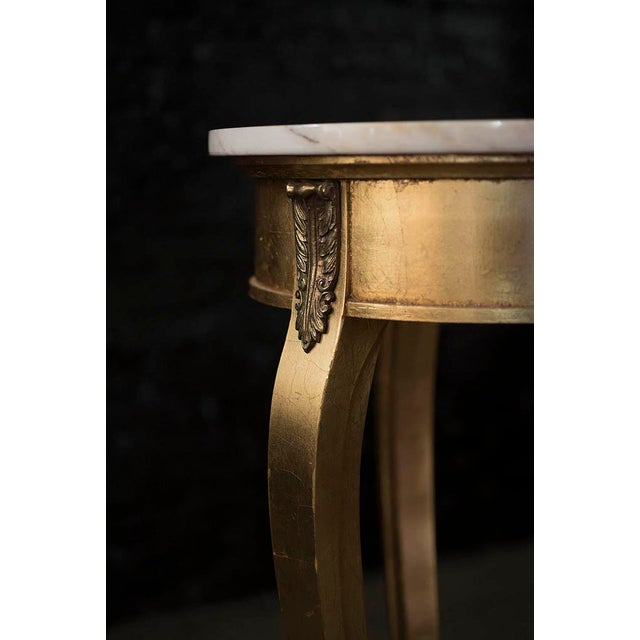 Tall Gilt and Marble Regency Pedestal Stand - Image 2 of 6
