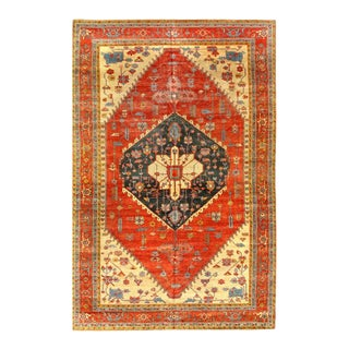Pasargad Rust Fine Hand Knotted Persian Serapi Design Rug 12'3'' X 18'6'' For Sale
