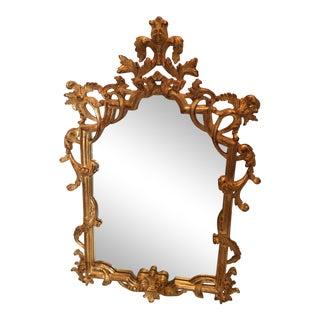 Vintage Decorative Crafts Inc. Carved Wood Gilt Mirror For Sale