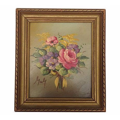 Vintage Floral Bouquet Painting - Image 1 of 3