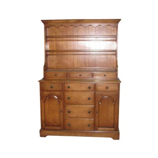 Vintage Cherry Hutch Cabinet For Sale