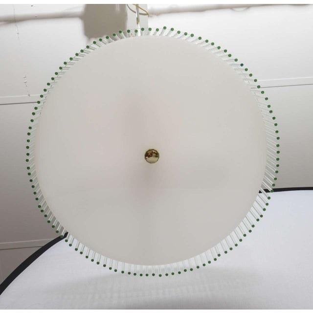 Mid Century Modern Lucite and Glass Rods Chandelier For Sale In Miami - Image 6 of 6